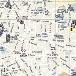 Madrid Tourist Map  Madrid Tourist Attractions